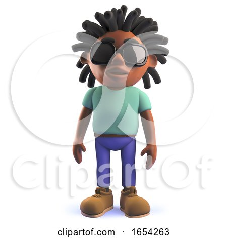 3d Black African Rastafarian Man Standing Very Peacefully by Steve Young
