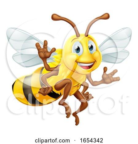 Bumble Bee Cartoon Character by AtStockIllustration