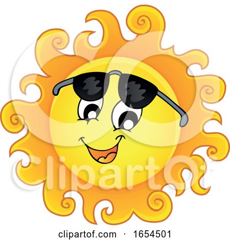 Smiling Summer Sun with Shades by visekart