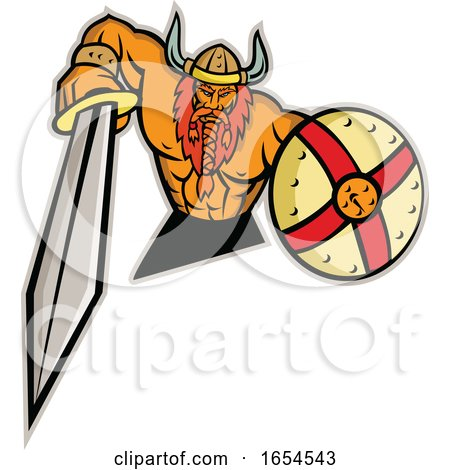 Viking with Shield by patrimonio
