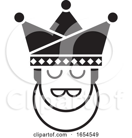 Black and White King Head by Lal Perera