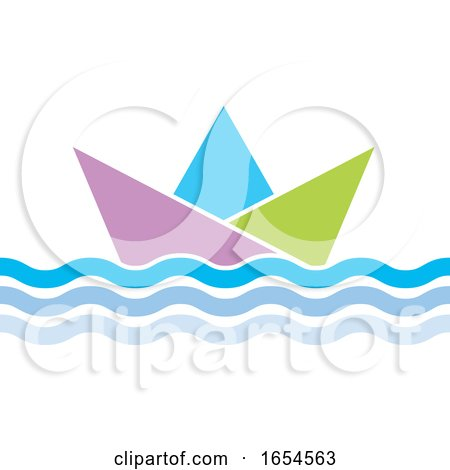 Floating Paper Boat by Lal Perera