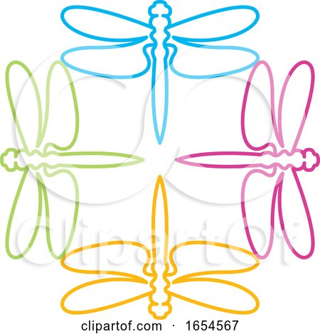 Colorful Dragonflies by Lal Perera