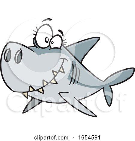 Cartoon Mommy Shark by toonaday