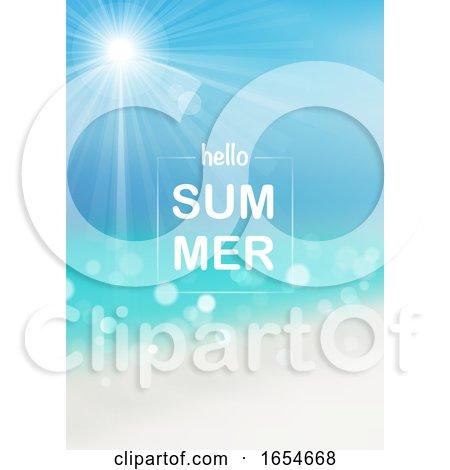 Hello Summer Beach and Sky Design by dero