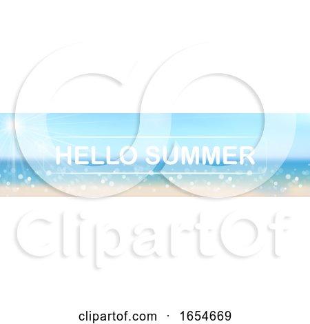 Hello Summer Beach and Sky Banner by dero