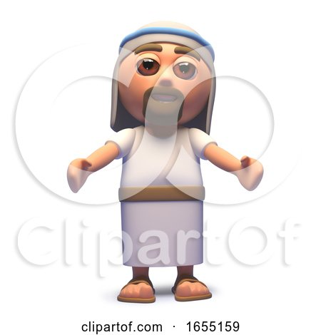 Jesus Christ the Saviour with Arms Beckoning, 3d Illustration by Steve Young