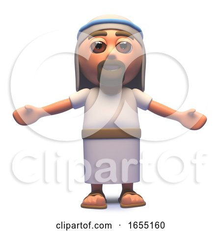 Holy Jesus Christ Son of God with Arms Outspread, 3d Illustration by Steve Young