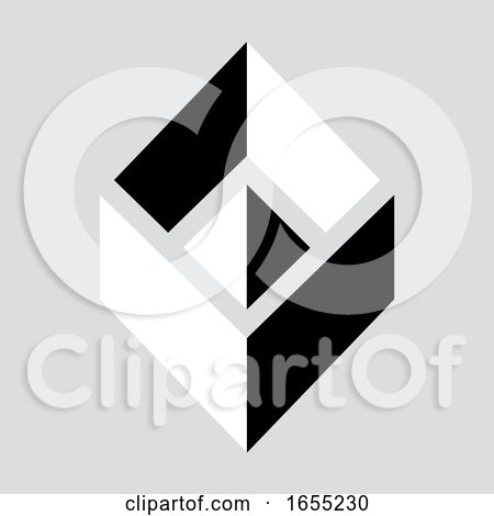 Grayscale Cubic Icon by Lal Perera