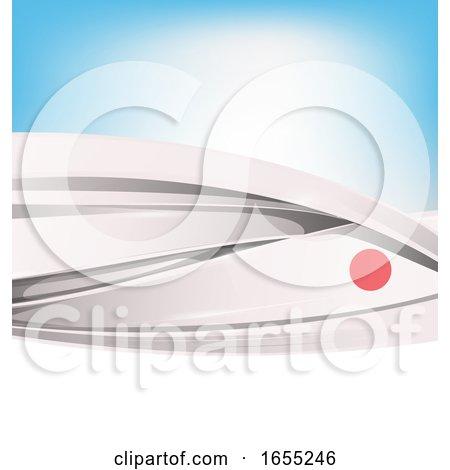 Japanese Ribbon Flag Background by Domenico Condello