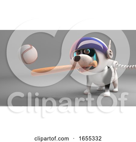 Sport Loving Puppy Dog in Spacesuit Play Baseball in Space Posters, Art Prints