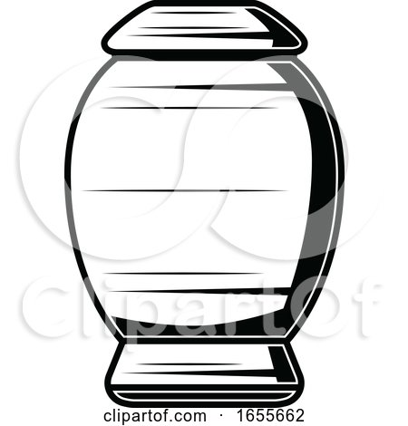 Black and White Urn by Vector Tradition SM