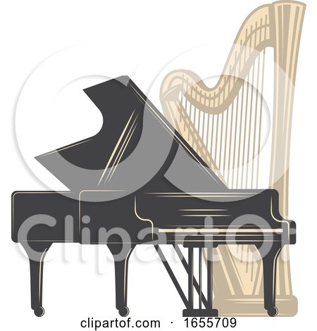 Harp and Piano by Vector Tradition SM