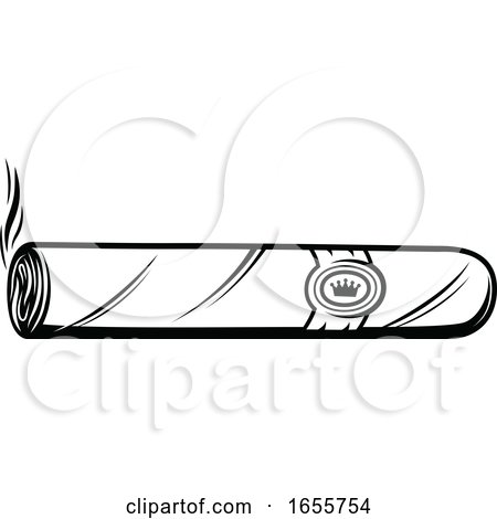 Black and White Cigar by Vector Tradition SM