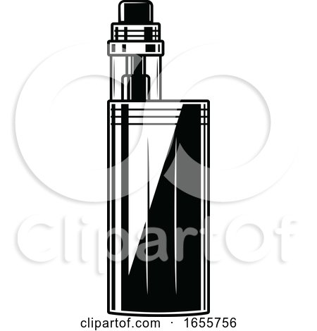 Black and White Vape Pen by Vector Tradition SM