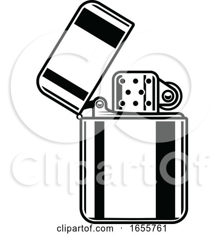 Black and White Lighter by Vector Tradition SM
