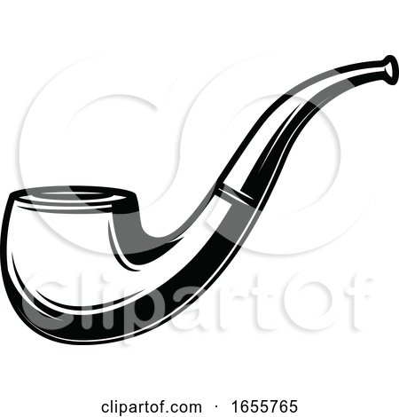 Black and White Tobacco Pipe by Vector Tradition SM