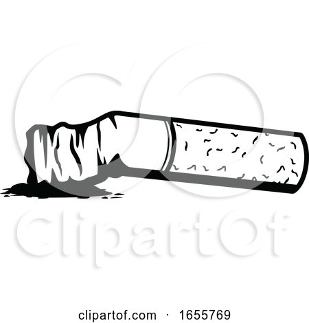Black and White Cigarette by Vector Tradition SM