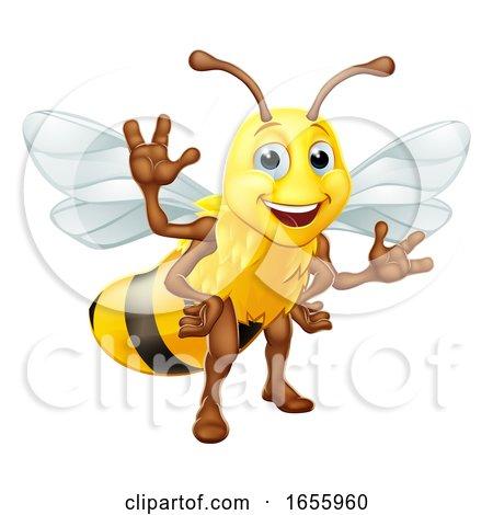 Bumble Honey Bee Bumblebee Cartoon Character by AtStockIllustration