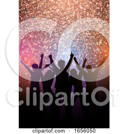 Party Crowd Background with Glittery Lights by KJ Pargeter