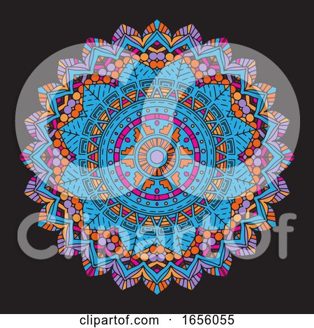 Abstract Colourful Mandala Background by KJ Pargeter