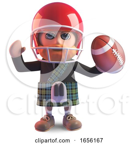 Scottish Man in Kilt Has Taken up American Football by Steve Young