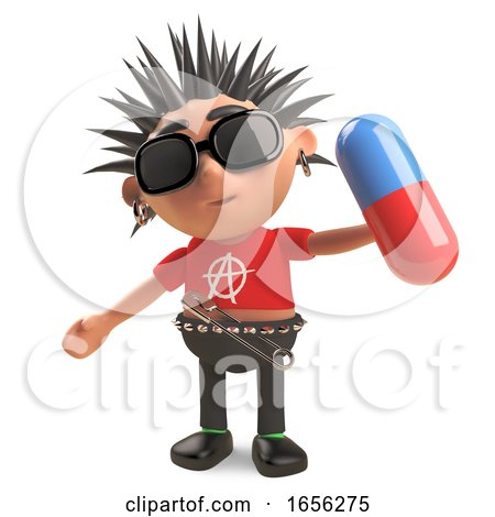 Poor Punk Rocker Will Have Trouble Swallowing This Pill by Steve Young