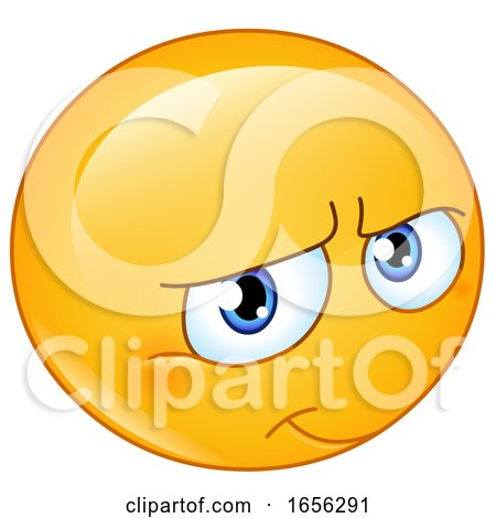 Yellow Smiley Emoji Smiling Shyly by yayayoyo