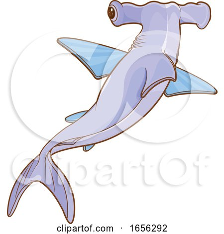 Cute Hammerhead Shark by Pushkin