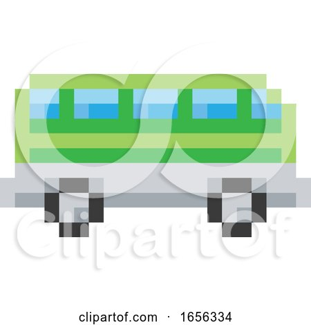 Bus Coach Pixel 8 Bit Video Game Art Icon by AtStockIllustration