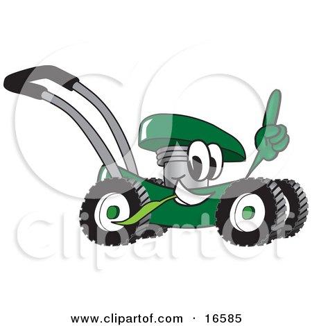 Poster, Art Print: Green Lawn Mower Mascot Cartoon Character Carrying ... Veterinary Tools Clip Art