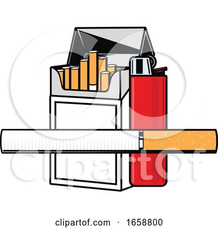 Cigarettes and Lighter by Vector Tradition SM