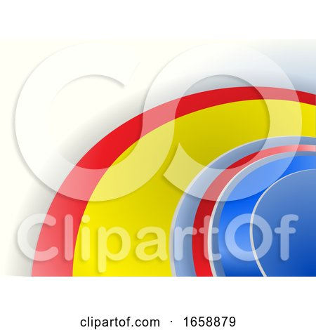 Abstract Multi Color Curved on White Background by elaineitalia