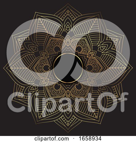 Elegant Background with a Gold and Black Mandala Design by KJ Pargeter