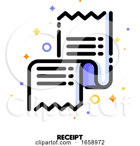 Icon of Receipt or Packing Slip for Shopping and Retail Concept by elena
