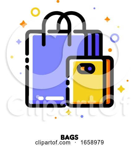 Icon of Shopping Bags for Retail and Consumerism Concept by elena