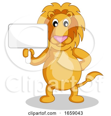 Lion Holding a Sign by Morphart Creations