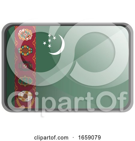Vector Illustration of Turkmenistan Flag by Morphart Creations