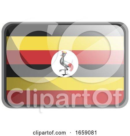 Vector Illustration of Uganda Flag by Morphart Creations