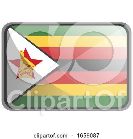 Vector Illustration of Zimbabwe Flag by Morphart Creations