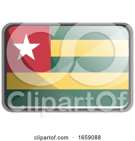 Vector Illustration of Togo Flag by Morphart Creations