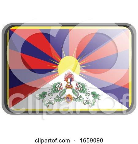 Vector Illustration of Tibet Flag by Morphart Creations