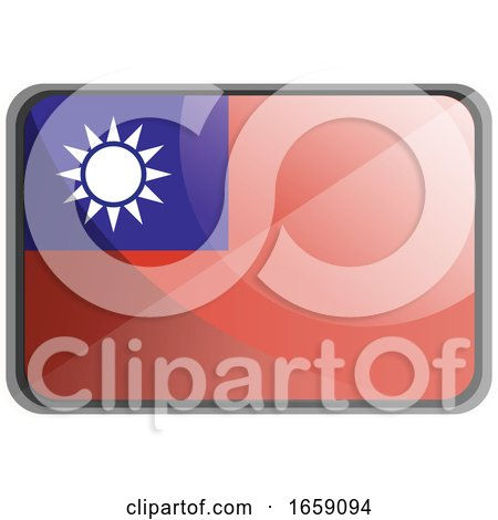Vector Illustration of Taiwan Flag by Morphart Creations
