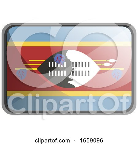 Vector Illustration of Swaziland Flag by Morphart Creations