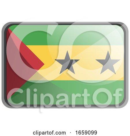 Vector Illustration of São Tomé and Príncipe Flag by Morphart Creations
