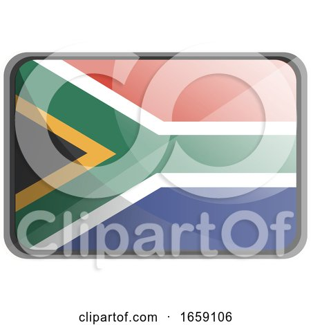 Vector Illustration of South Africa Flag by Morphart Creations