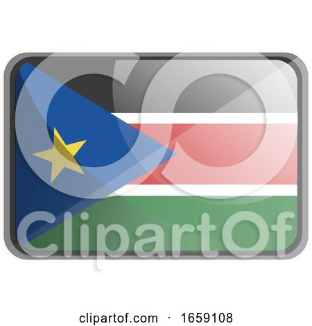 Vector Illustration of South Sudan Flag by Morphart Creations