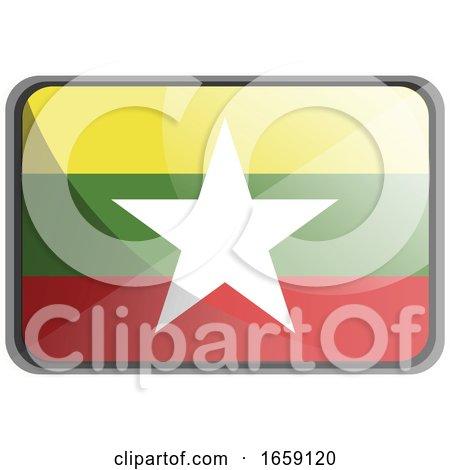 Vector Illustration of Myanmar Flag by Morphart Creations