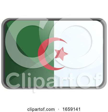 Vector Illustration of Algeria Flag on Whte Background by Morphart Creations