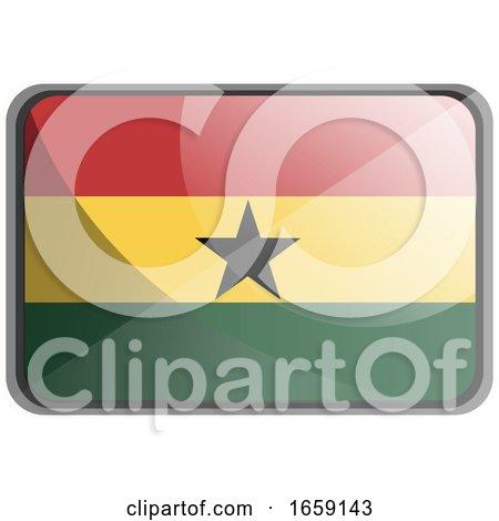 Vector Illustration of Ghana Flag by Morphart Creations